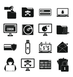 Criminal activity icons set simple style vector image