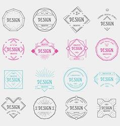Design logo template vintage geometric badge vector image vector image