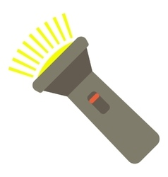 Flashlight icon flat style vector image
