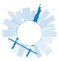 Outline New York city vector image vector image