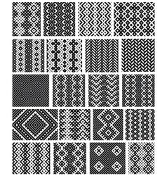 Set of 20 monochrome elegant seamless patterns vector image