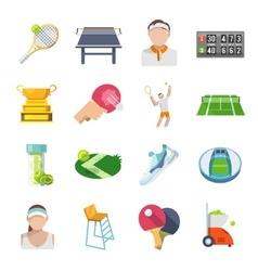 Tennis Icons Flat Set vector image vector image