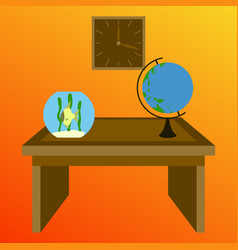 workplace office cabinet comfortable place for vector image vector image