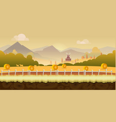 beautiful countryside farm background for games vector image