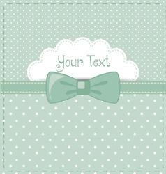 blue-polka-invitation vector image