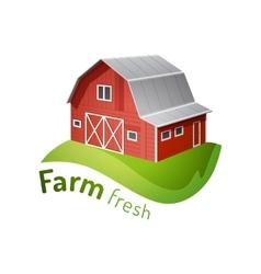 Farm icon vector image