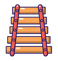 colorful xylophone icon cartoon style vector image