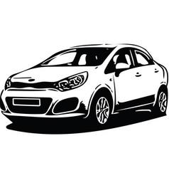 concept sportscar vehicle silhouette vector image