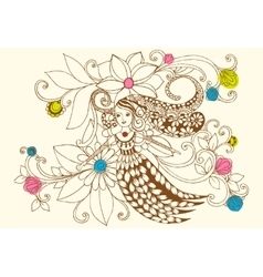 Flower fairy in pastel colors vector image vector image