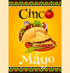 mexican cinco de mayo fiesta greeting card vector image