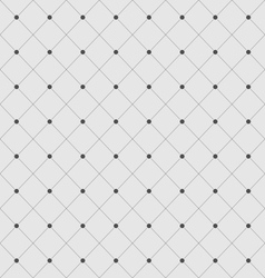 Seamless Geometric Texture with Rhombus and Dots vector image vector image