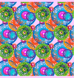 seamless pattern with concentric circles with vector image vector image