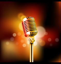 shining microphone standup comedy show concept vector image vector image