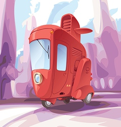Three-wheeled Retro City Car vector image vector image