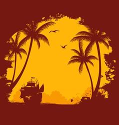 tropic back orange vector image vector image