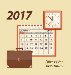2017 new year-new plans vector image