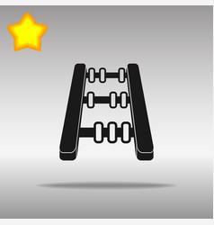 Abacus black icon button logo symbol vector