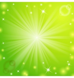 Abstract magic light green background vector