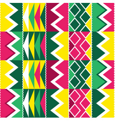 african tribal kente cloth seamless pattern vector image