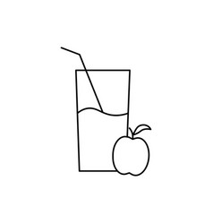 apple juice icon vector image