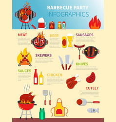 Barbecue party infographics vector