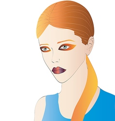 Beautiful Redhead Portrait vector image