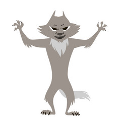 big bad wolf clip art children vector image
