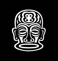 black and white sticker vector image
