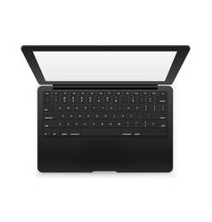 Black modern laptop mockup isolated on white vector