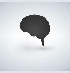 Blak brain icon flat disign vector