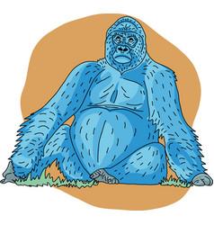 Blue gorilla vector