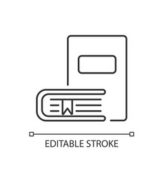 Bookstore pixel perfect linear icon vector