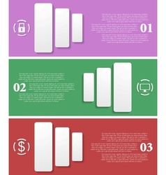 Bright infographic tech banners vector image