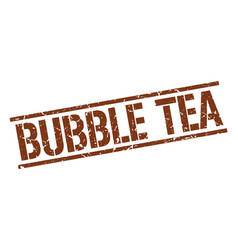 Bubble tea stamp vector