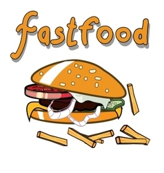 Burger tasty isolated vector image