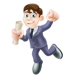 businessman with scroll vector image