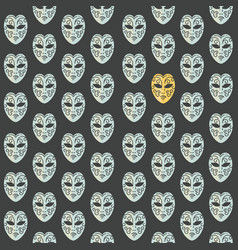 carnival masks seamless pattern vector image