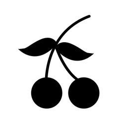 cherry fresh fruit isolated icon vector image
