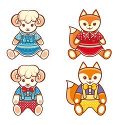 Childrens animals ornament kid cute pet vector