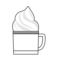 chocolate and whipped cream vector image