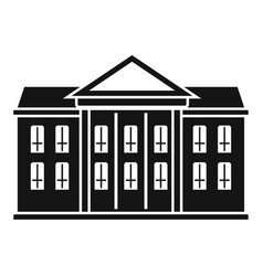 Classic courthouse icon simple style vector