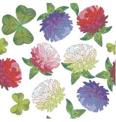 Clover background seamless pattern clover vector
