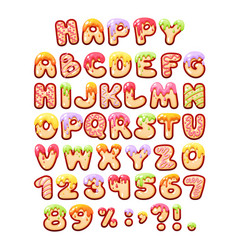 comic game sweet font kids letters cartoon bubble vector image