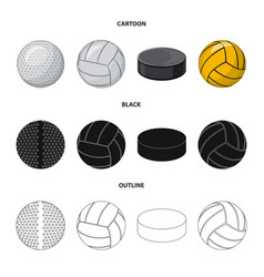 Design of sport and ball symbol set of vector