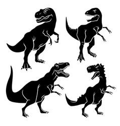 dinosaur silhouettes 001 vector image