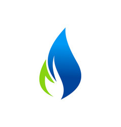 Eco flame logo vector