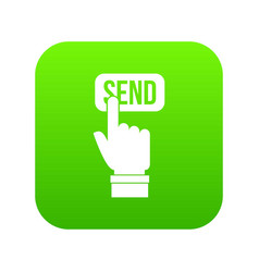 email communication concept icon digital green vector image