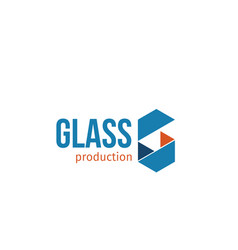 emblem for glass production vector image