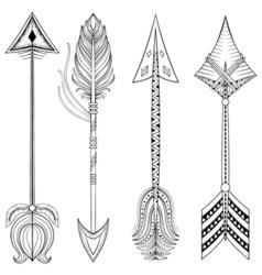 ethnic arrows in entangle designconcept hand vector image
