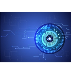 eye technology vector image